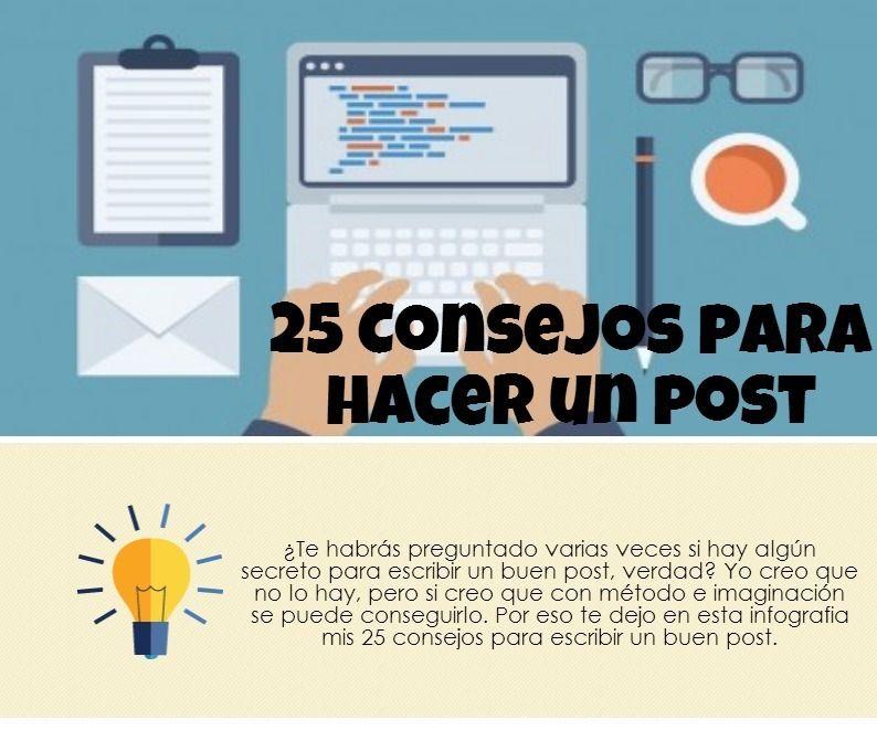 Infografía: 25 consejos para hacer un post