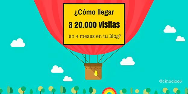 ¿Cómo llegar a 20.000 visitas en 4 meses en tu Blog?