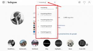 usar buscador de instagram para usar hashtags en instagram