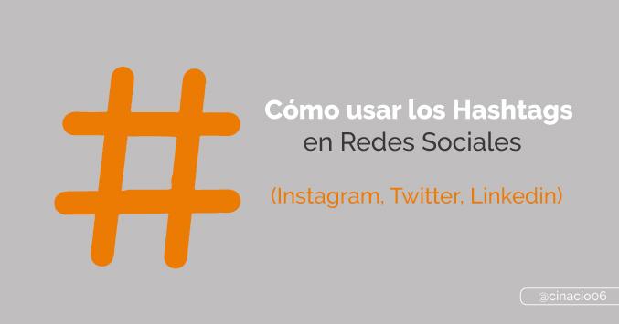 cómo usar hashtags en redes sociales