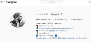 perfil de instagram @cinacio06