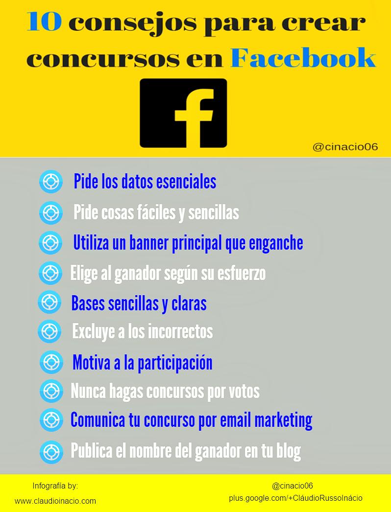 consejos para crear concursos Facebook