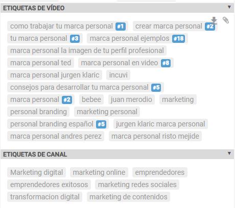 saber qué etiquetas usar en vídeos