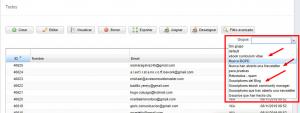 mailing list por listas