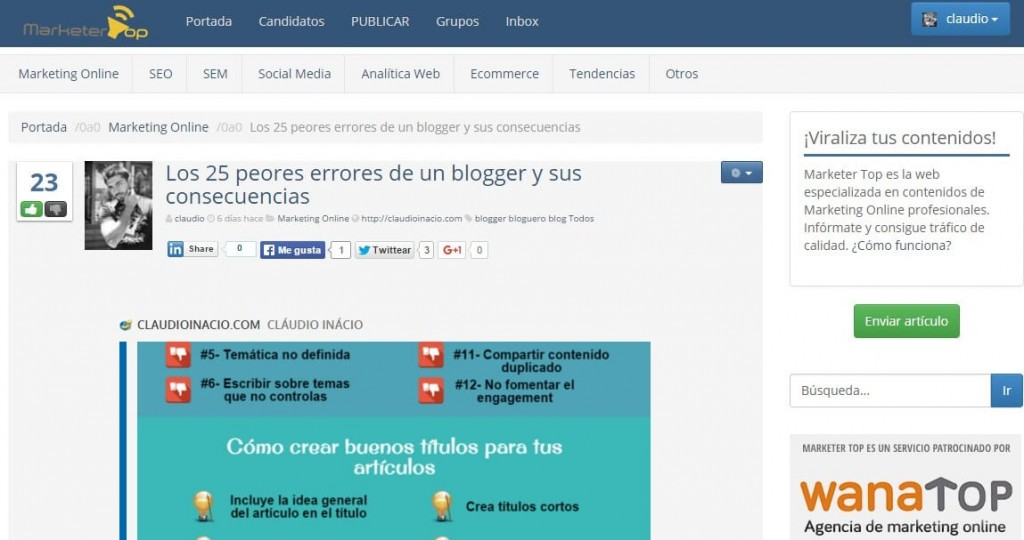 agregadores de noticias marketer top