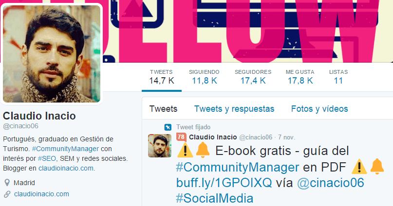 perfil twiter para mejorar tu marca personal