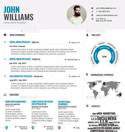 infographic plantilla curriculum vitae