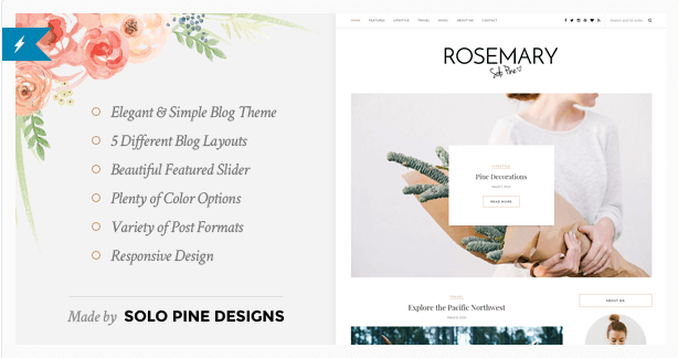 Rosemery temas wordpress