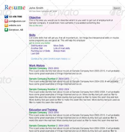 plantillas para curriculum search engine - Como Hacer Un Resume Para Trabajo