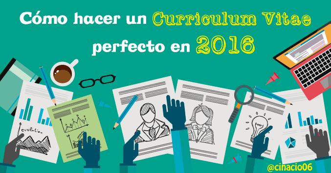 cómo hacer un currículum vitae en 2016