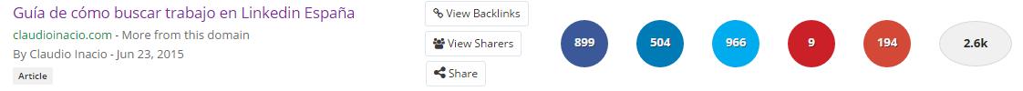 marcadores sociales como buscar trabajo en linkedin