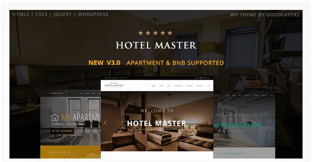 una las mejores plantillas WordPress para hoteles- Hotel Master