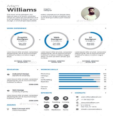 CV infográfico
