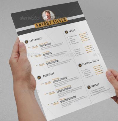 CV creativo y retro