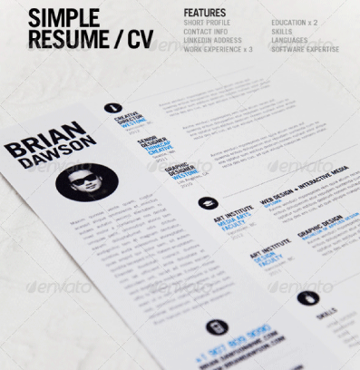 plantillas curriculum vitae simple resume