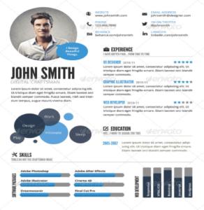 CV creativo estilo infográfico