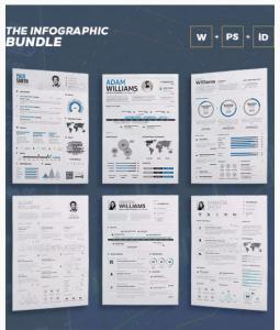 ejemplos de plantilla curriculum infografia