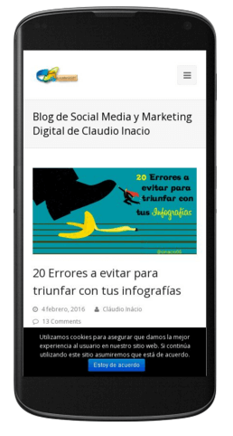 sitio web optimizado para moviles