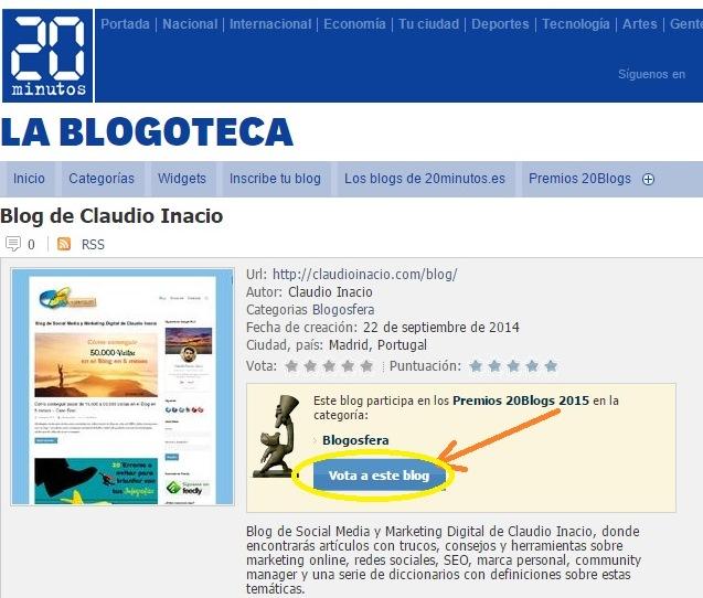 votar en blog claudioinacio