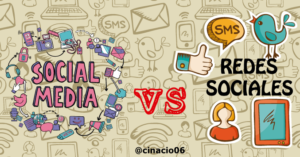 redes sociales vs social media