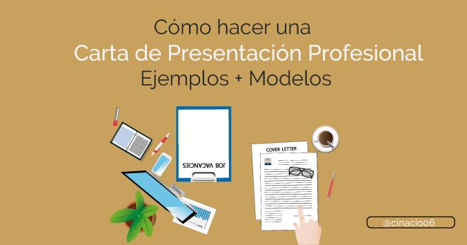 Como Hacer Una Carta De Presentacion Con Ejemplos Modelos 2018