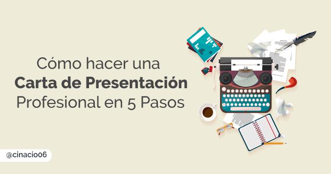 Cómo escribir una Carta de Presentación Profesional  y Atractiva