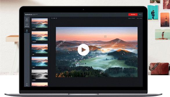 editor de imágenes Shutterstock