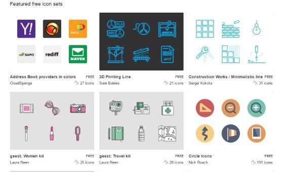 iconfinder iconos gratis