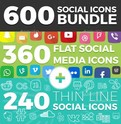 social media iconos premium