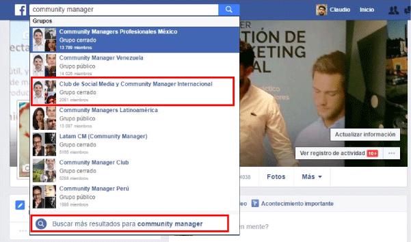 buscar grupos facebook