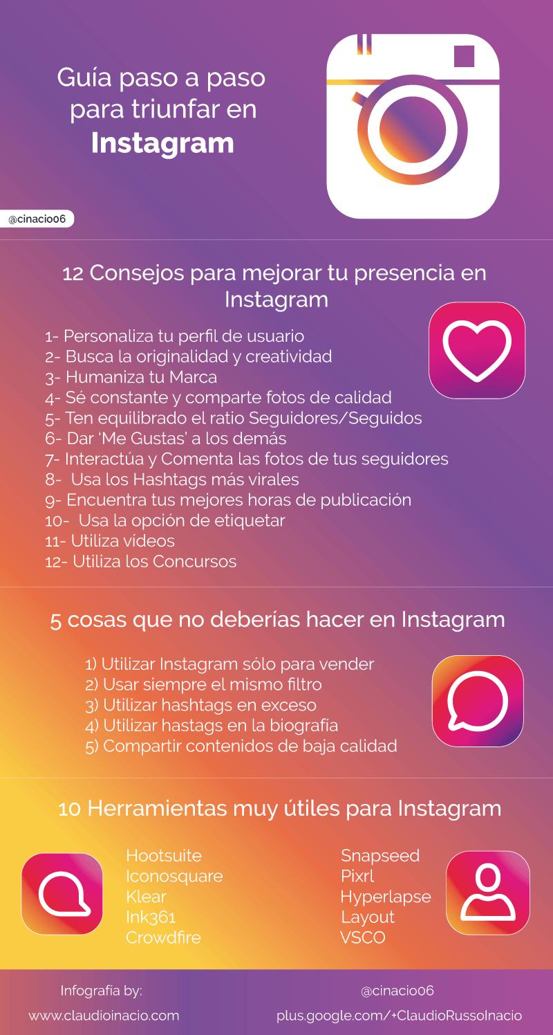 infografía guía de Instagram