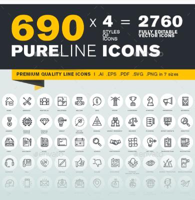pure line iconos