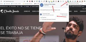 herramientas para el usuario de Facebook Pixel helper