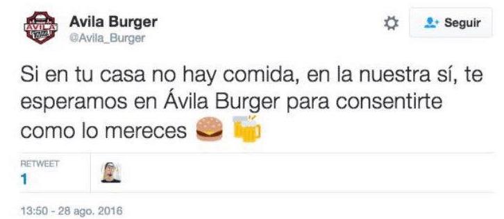 tweet @avilaburguer