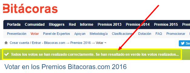 confirmación voto en premios bitácoras 2016