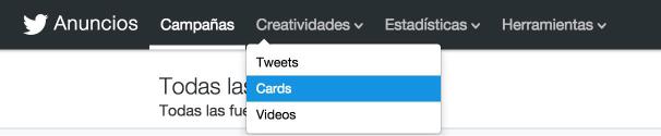 creatividades en twitter cards