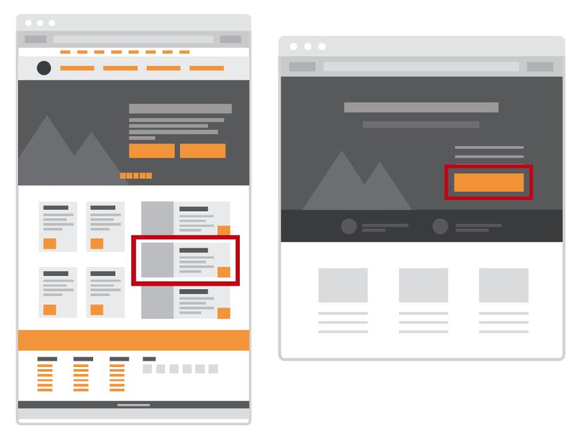 homepage de marketing de conversiones