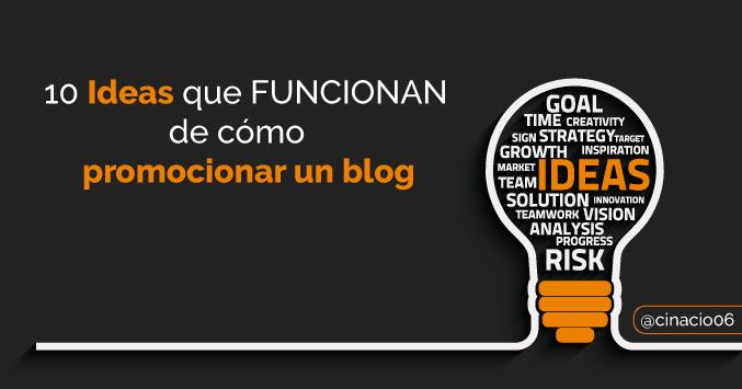 El Blog de Claudio Inacio - ¿Cómo promocionar un blog? 10 Ideas que FUNCIONAN para atraer visitas a tus artículos