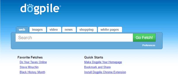 Dogpile buscador web