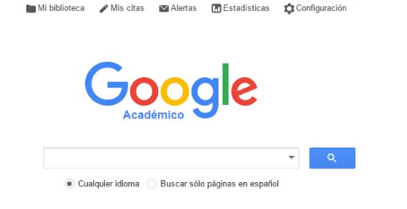 Buscador web Google Scholar