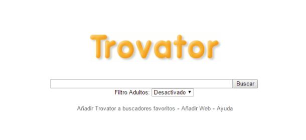 buscador web español Trovator