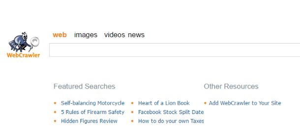 navegador web, buscador webcrawler
