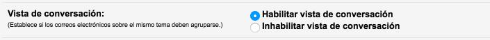 habilitar conversaciones en gmail