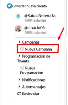 nueva campaña en TwittMate