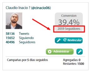porcentaje de conversio con twittmate