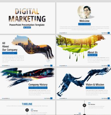 Plantillas Digital Marketing powerpoint