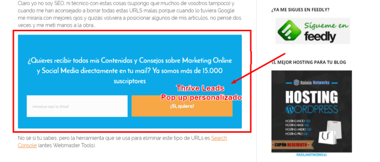 thrive leads para tips de email marketing