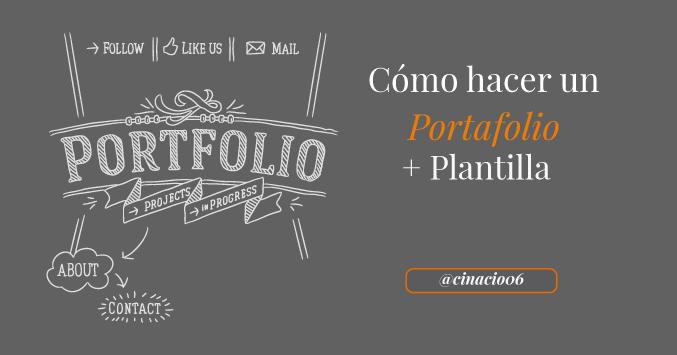 El Blog de Claudio Inacio - Cómo hacer un Portafolio + Plantilla de Community Manager Gratis