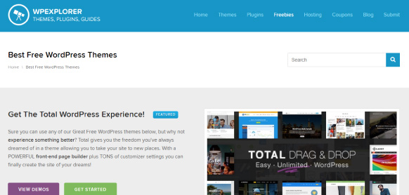 WPexplorer sitio para descargar themes wordpress gratis responsive