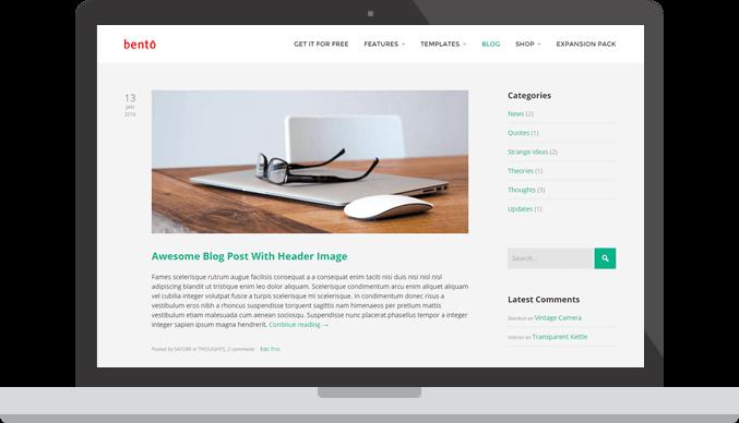 Plantilla WordPress Bento
